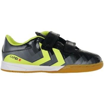 Shoes Children Indoor sports trainers Hummel Rapidx Indoor Black, Yellow