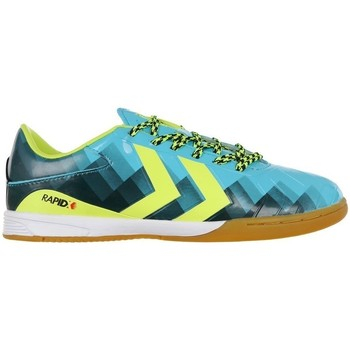 Shoes Children Football shoes Hummel Rapidx Indoor Blue, Yellow