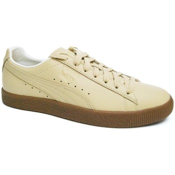 Shoes Men Low top trainers Puma Clyde Veg Tan Brown