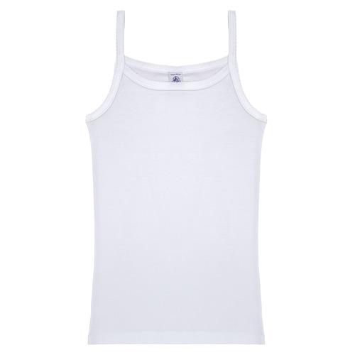 Clothing Girl Tops / Sleeveless T-shirts Petit Bateau 53295 White
