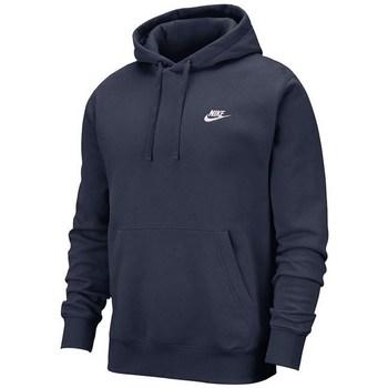 Clothing Men sweaters Nike Club Hoodie PO BB Navy blue
