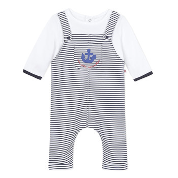 Clothing Boy Jumpsuits / Dungarees Absorba  Blue