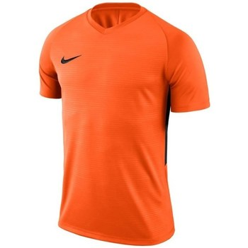 Clothing Boy short-sleeved t-shirts Nike JR Tiempo Prem Jersey Orange