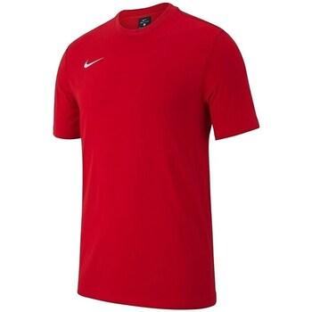 Clothing Boy Short-sleeved t-shirts Nike JR Team Club 19 Red