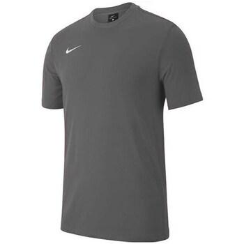 Clothing Boy Short-sleeved t-shirts Nike JR Team Club 19 Graphite