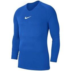 Clothing Boy Long sleeved tee-shirts Nike JR Dry Park First Layer Blue