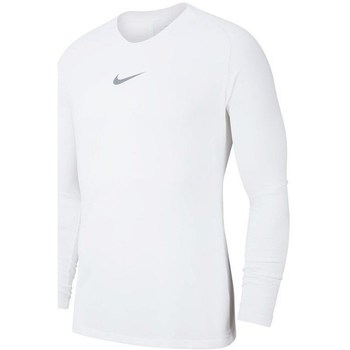 Clothing Boy Long sleeved tee-shirts Nike JR Dry Park First Layer White