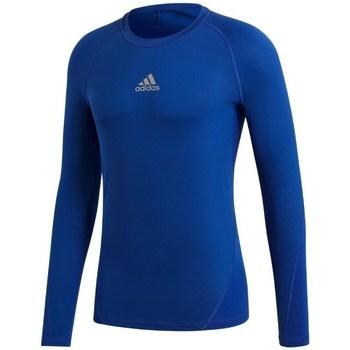 Clothing Boy Long sleeved tee-shirts adidas Originals Junior Alphaskin Blue