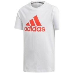 Clothing Boy Short-sleeved t-shirts adidas Originals JR Bos White