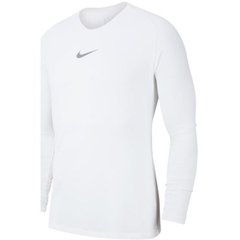 Clothing Men Long sleeved tee-shirts Nike Dry Park First Layer White