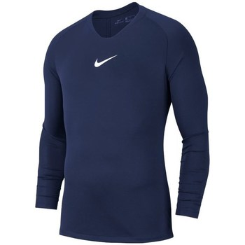 Clothing Men Long sleeved tee-shirts Nike Dry Park First Layer Navy blue