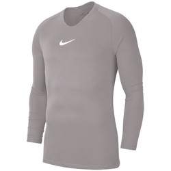 Clothing Men Long sleeved tee-shirts Nike Dry Park First Layer Grey