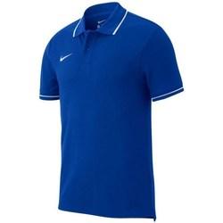 Clothing Men short-sleeved polo shirts Nike Team Club 19 Polo Blue