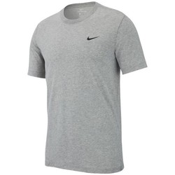 Clothing Men Short-sleeved t-shirts Nike Dry Tee Crew Solid Grey