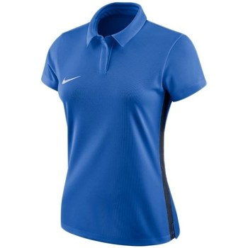 Clothing Women Short-sleeved polo shirts Nike Dry Academy 18 Blue