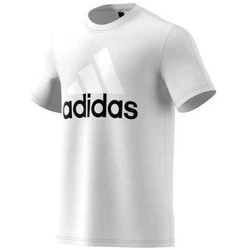 Clothing Men short-sleeved t-shirts adidas Originals Performance Essentials Linear Tee White
