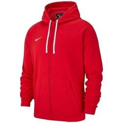 Clothing Boy sweaters Nike JR Team Club 19 Fullzip Fleece Hoody Red