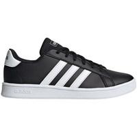 Shoes Children Low top trainers adidas Originals JR Grand Court Black