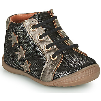 Shoes Girl Mid boots GBB DAVIA Black / Gold