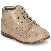Shoes Girl Hi top trainers GBB TACOMA VTE BEIGE POIS OR DPF/NODEO