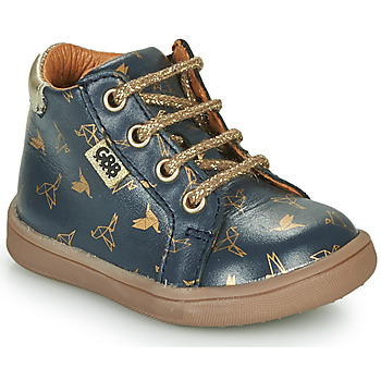 Shoes Girl Mid boots GBB FAMIA Blue / Gold
