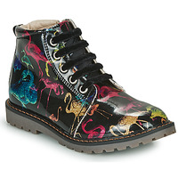 Shoes Girl Mid boots GBB NAREA Black / Multicolour