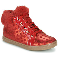 Shoes Girl Hi top trainers GBB JUNA VTS POIS ROUGE DPF/TRILLY