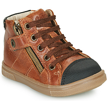 Shoes Boy Hi top trainers GBB KAMIL VTE MARRON DPF/TRILLY