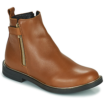 Shoes Girl Mid boots GBB XIANA Brown
