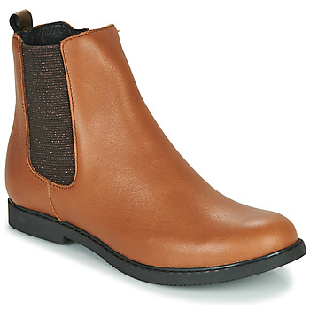 Shoes Girl Mid boots GBB ARANA Cognac