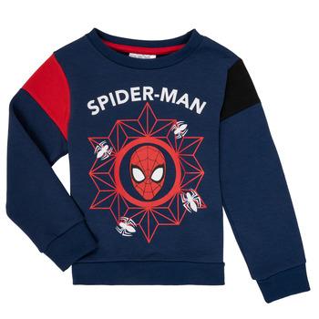 Clothing Boy Sweaters TEAM HEROES SPIDERMAN SWEAT Marine