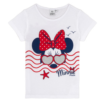 Clothing Girl short-sleeved t-shirts TEAM HEROES MINNIE White