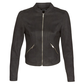 Clothing Women Leather jackets / Imitation leather Vero Moda VMSUMMERSIV Black