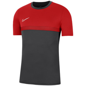 Clothing Men short-sleeved t-shirts Nike Academy Pro Top Graphite,Red