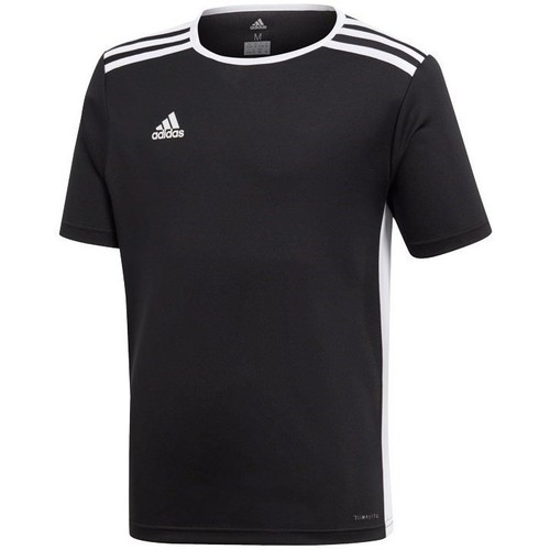 Clothing Boy short-sleeved t-shirts adidas Originals JR Entrada 18 Black
