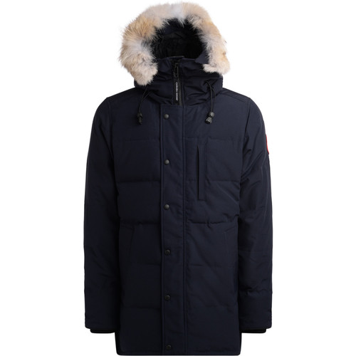 Clothing Men Parkas Canada Goose Carson blue parka with hood Blue