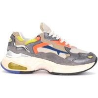 Shoes Women Low top trainers Sizey Premiata Premiata Sizey sneaker in silver leather with multicolor Multicolour