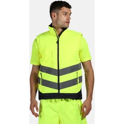 Clothing Men Jackets / Cardigans Professional HIVIS PRO Insulated Bodywarmer Yellow
