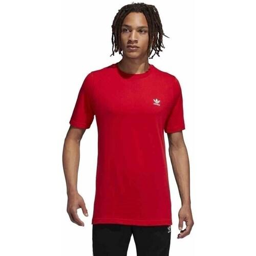 Clothing Men short-sleeved t-shirts adidas Originals Originals Essentials Red
