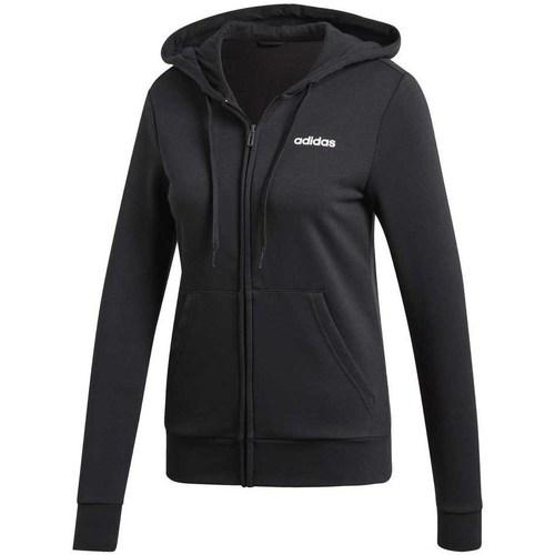 Clothing Women sweaters adidas Originals W Essentials Pln FZ HD Black