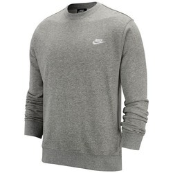 Clothing Men Sweaters Nike Club Crew FT Grey