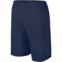 Clothing Children Shorts / Bermudas Proact Short enfant Jersey  Sport bleu marine