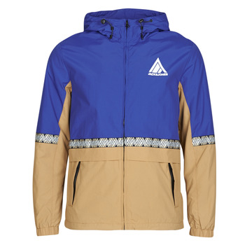 Clothing Men Jackets Jack & Jones JORSTOCKTON Blue / Camel