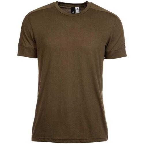 Clothing Men short-sleeved t-shirts adidas Originals ID Stadium Brown