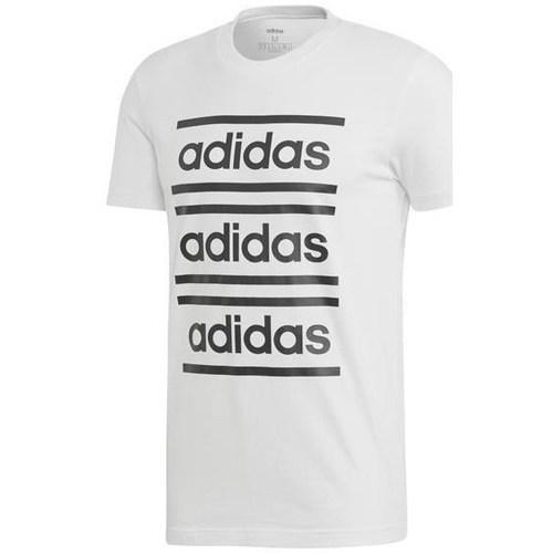 Clothing Men short-sleeved t-shirts adidas Originals M C90 Brd Tee White