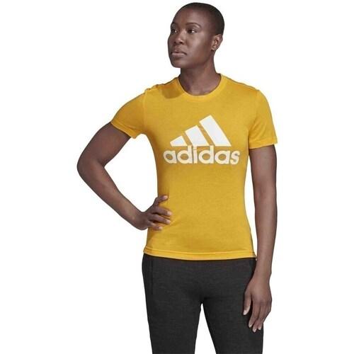 Clothing Women short-sleeved t-shirts adidas Originals Badge OF Sport Yellow