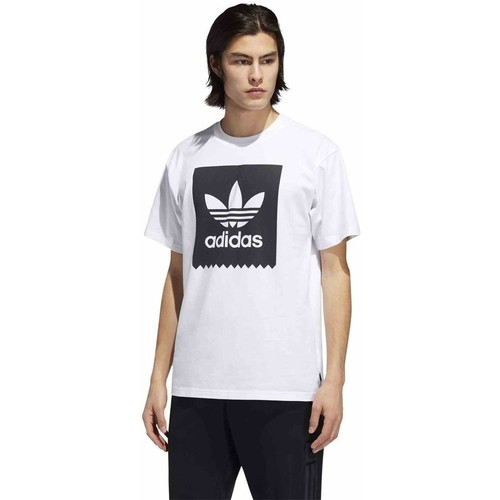 Clothing Men short-sleeved t-shirts adidas Originals Originals Solid White