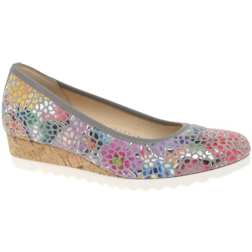 Shoes Women Boots Gabor Epworth Womens Low Wedge Heeled Shoes Multicolour