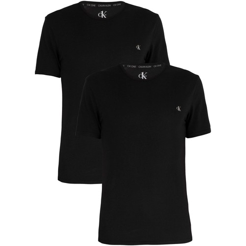 Clothing Men Short-sleeved t-shirts Calvin Klein Jeans 2 Pack Crew T-Shirt black