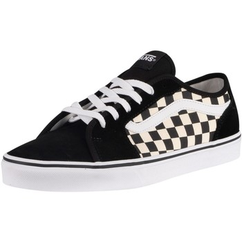 Shoes Men Fitness / Training Vans Filmore Decon Checkerboard Canvas Trainers black